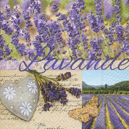 Szalvéta - Levendula aroma (kk)