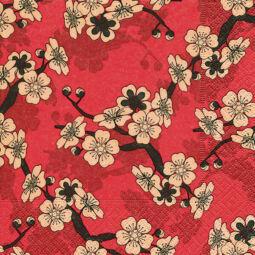 Szalvéta - Ázsiai virágok (kk)