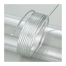 Alumínium drót, 2 mm, 5 m - ezüst