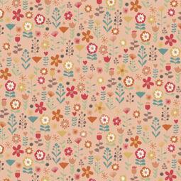 Patchwork anyag - Makower - Ellie 2067/P Floral Pink