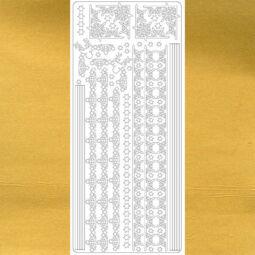Kontúrmatrica - hókristály sor, arany, 2382