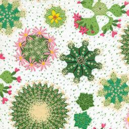 Szalvéta - Kaktusz, domborított (kk)