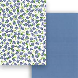Fotókarton, A4 - mezei virágok, kék