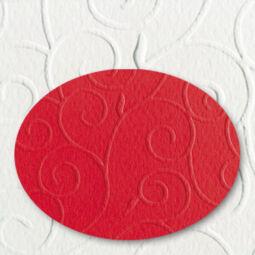Domborított karton, A4, 220 g, arabeszk - 28, piros