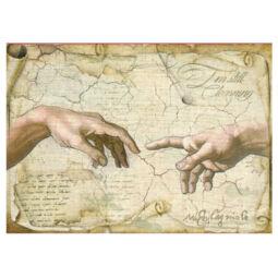 Rizspapír - Michelangelo: Ádám teremtése, DFSA4282