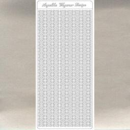 Kontúrmatrica - vékony áttört csík, ezüst, 3474