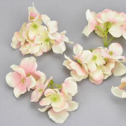 Művirág, selyem hortenziafej, 6 cm - cirmos rózsaszín, 1 db