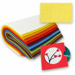 Textilfilc anyag, vastag - 13, citromsárga