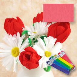 Krepp papír, 50x250 cm - rózsa