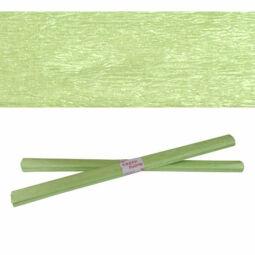 Krepp papír, 50x200 cm - gyöngyház, zöld
