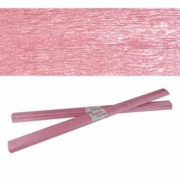 Krepp papír, 50x200 cm - gyöngyház, lilás rózsaszín