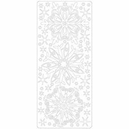 Kontúrmatrica - csillagok, hókristályok, fehér, 4166