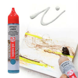 Art Creation Effect Liner, univerzális 3D festéktoll, 28 ml - 1001 Pure white