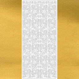 Kontúrmatrica - széles csíkminta II., arany, 4324