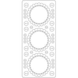 Kontúrmatrica - keretek, gombok, fehér, 4563 - AKCIÓS