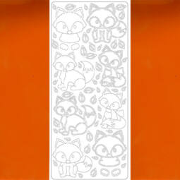 Kontúrmatrica - róka, világosbarna, 4564 - AKCIÓS