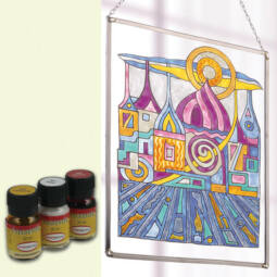 Hobbyművész terpentines üvegfesték, 30 ml - törtfehér