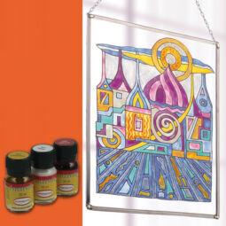 Hobbyművész terpentines üvegfesték, 30 ml - narancs