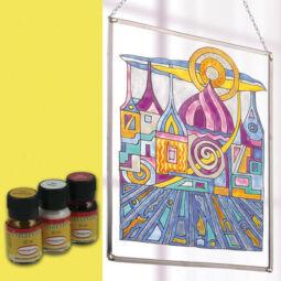 Hobbyművész terpentines üvegfesték, 30 ml - citromsárga
