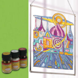 Hobbyművész terpentines üvegfesték, 30 ml - világoszöld