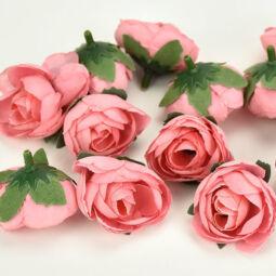 Művirág boglárkafej, 3 cm - rózsaszín, 1 db