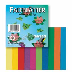Origami papír, színes - 70 g, 100 lap, 10x10 cm