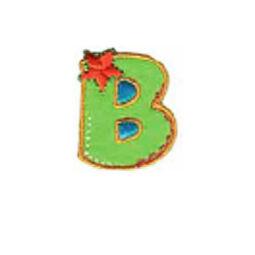 Textil betű, vasalható - B, színes