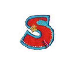Textil betű, vasalható - S, színes