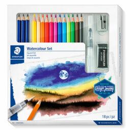 Akvarell ceruza készlet, Staedtler, Design Journey, ecsettel, radírral, hegyezővel