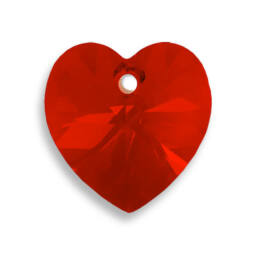 6228 Swarovski szív alakú függő, 14,4x14 mm - Light Siam