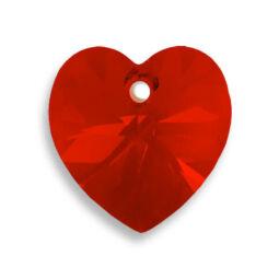 6228 Swarovski szív alakú függő, 10,3x10 mm - Light Siam