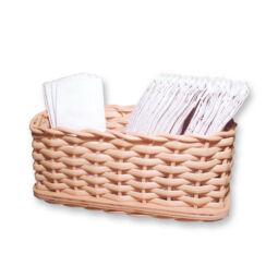 Kosárfonó kézműves csomag - papírzsebkendőtartó