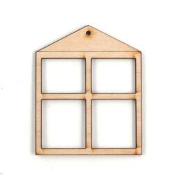 Fa ablakkeret - szögletes