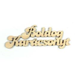 Fafigura, felirat - Boldog Karácsonyt
