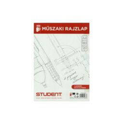 Műszaki rajzlap, ICO, Student, 180 g - A4, 20 db