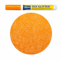 Textilfilc, Tex Glitter - sötét anyagra, narancs