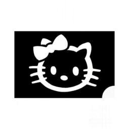Tetováló sablon, öntapadós stencil - Hello Kitty 2
