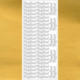 Kontúrmatrica - meghívó, arany, 7908