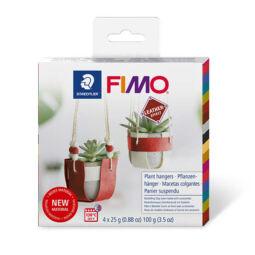 FIMO Leather Effect DIY süthető gyurma készlet, 4x25 g - Virágtartó
