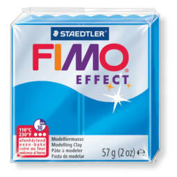 FIMO Effect süthető gyurma, 57 g - áttetsző kék (8020-374)