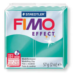 FIMO Effect süthető gyurma, 57 g - áttetsző zöld (8020-504)