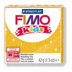FIMO Kids süthető gyurma, 42 g - glitter arany (8030-112)