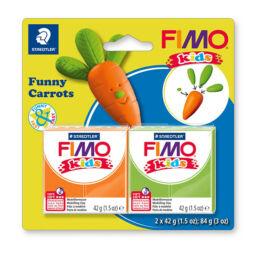 FIMO Kids süthető gyurma készlet, 2x42 g - Funny carrots, vicces répa