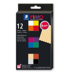 FIMO Professional Colour Pack süthető gyurma készlet, 12x25 g - Basic Colours