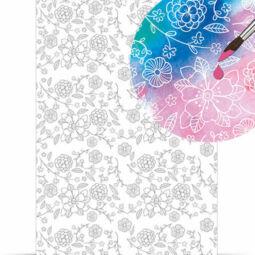 Varázspapír, magic paper, A4 - virágok