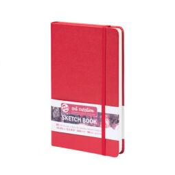 Talens Art Creation Sketch Book rajz- és vázlatfüzet, 13x21 cm, 80 lap, piros