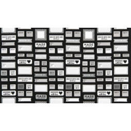 Akció! Patchwork anyag - Robert Kaufman - Made For You AAK-15817-2 Black Panel, 60cm