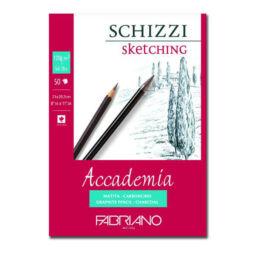 Fabriano Accademia rajz- és vázlattömb, 120 g, 50 lap, A4, ragasztott