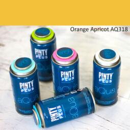 Pinty Plus Aqua, vízbázisú festékspray, 150 ml - 318 Orange Apricot