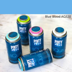 Pinty Plus Aqua, vízbázisú festékspray, 150 ml - 320 Blue Blood